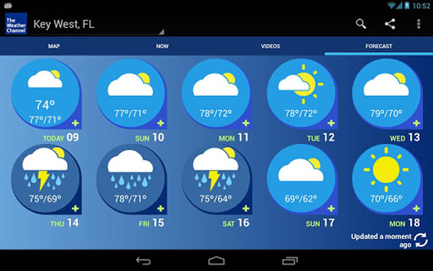 Weather Channel Forecast : Essential apps for busy moms froddo