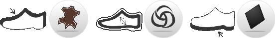 Piktogram Koža-Prirodna vuna-Guma