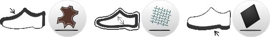 Piktogram Koža-Tex-Guma